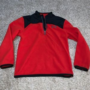 Under Armour Red Microfleece Pullover